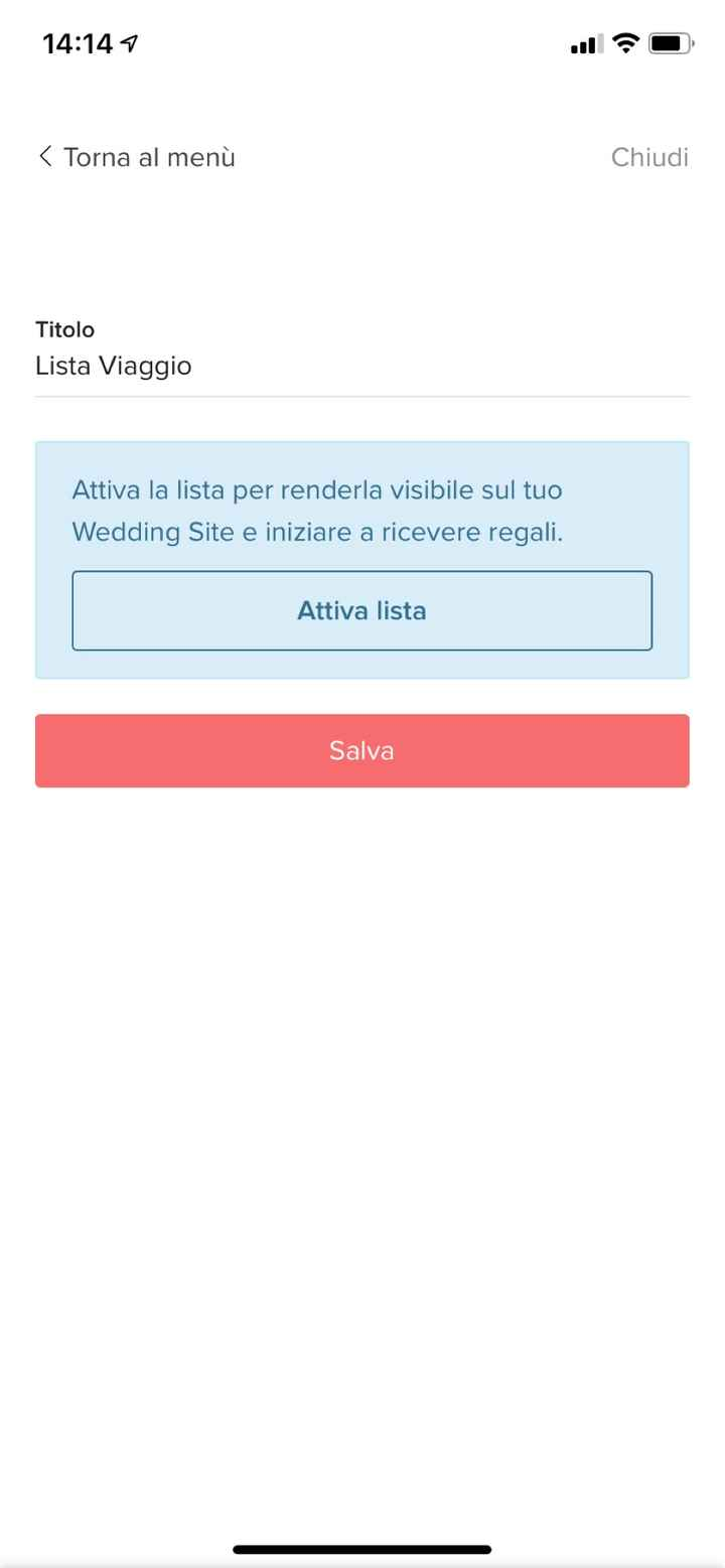 lista nozze su wedding site - 1