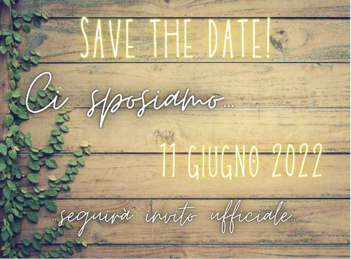 Save the date? - 1