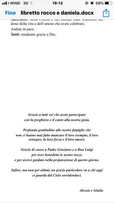 Ringraziamento libretto messa 1