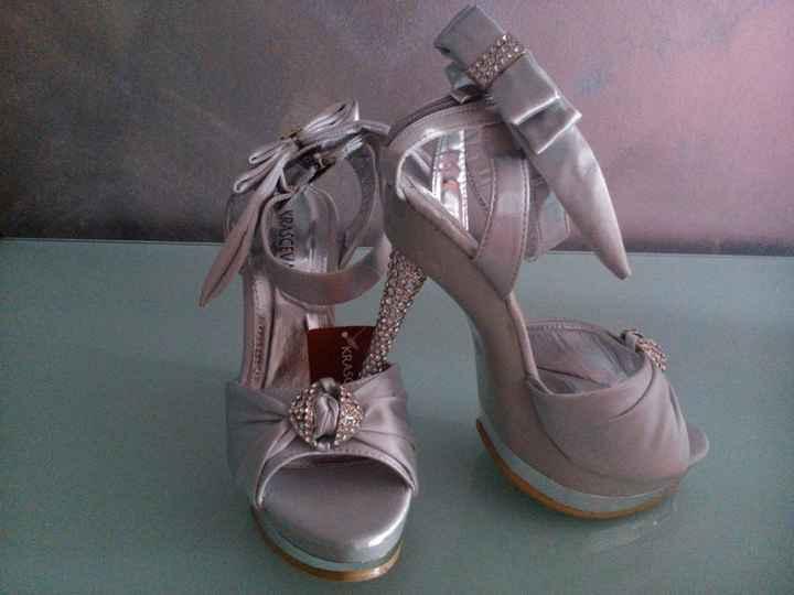 Scarpe matrimonio argento