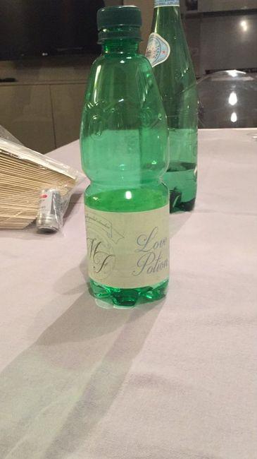 Bottiglie d'acqua fresca post cerimonia - 1