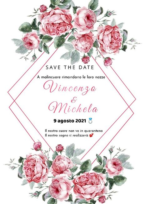 Save the date ❤️ Matrimonio Rinviato 1