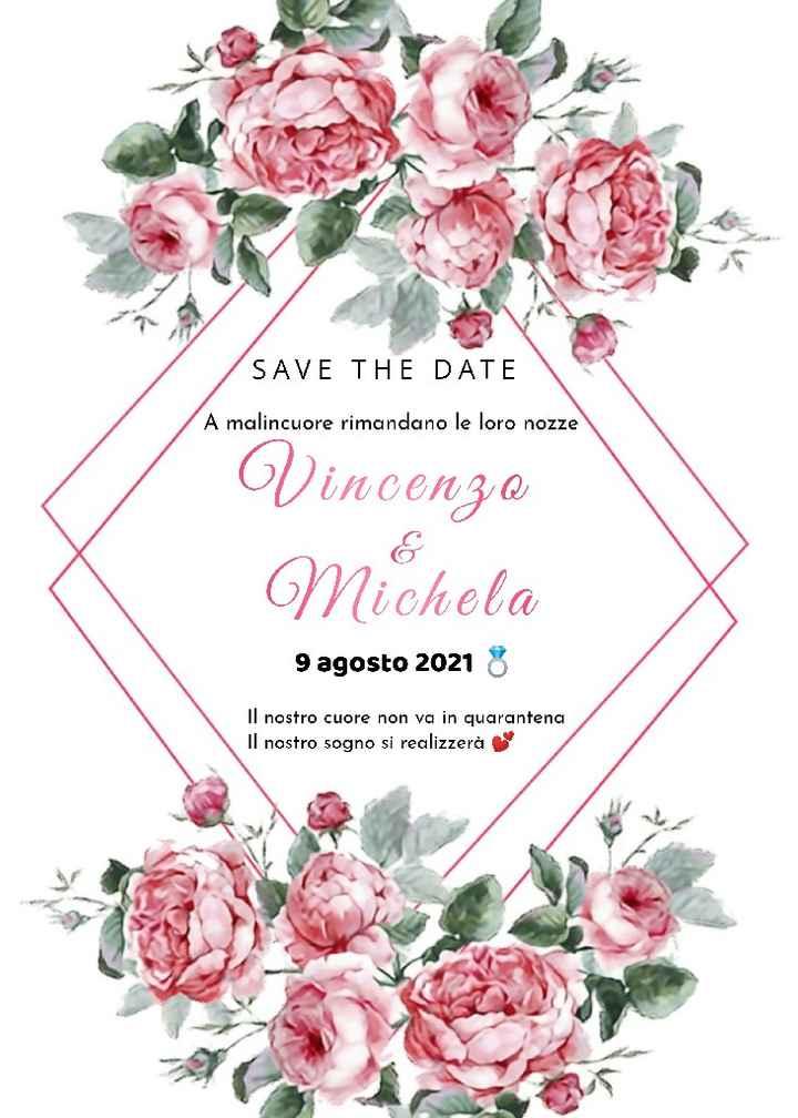 Save the date ❤️ Matrimonio Rinviato - 1