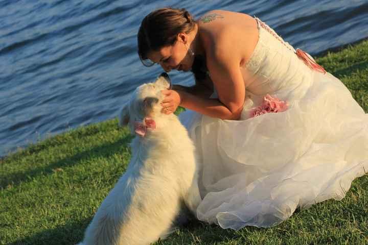 Io e la mia cucciola che ha portato le fedi!!!