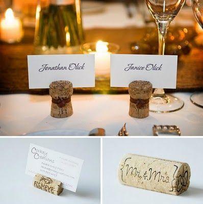 Segna posto/mini cadeaux tema vino 2