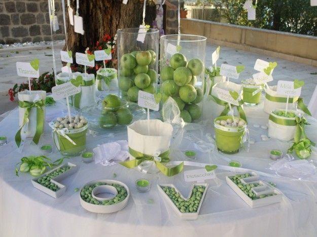 Segnaposto Matrimonio Verde Mela.Segnaposto Matrimonio Verde Mela
