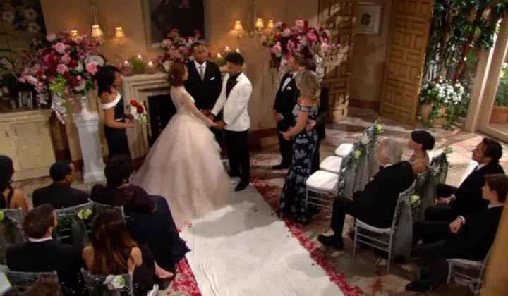 Il matrimonio di Nicole e Zende nella soap