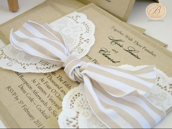 Inviti Matrimonio Country Chic : Partecipazioni matrimonio country chic fai da te l