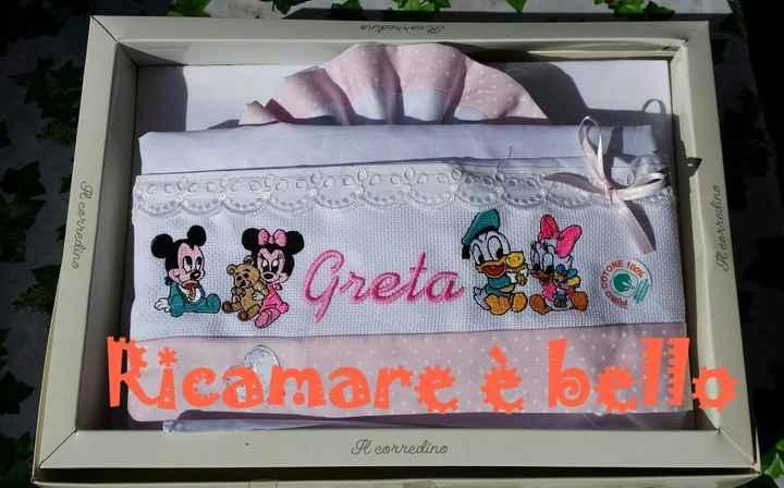 Lenzuolini lettino personalizzati per Greta