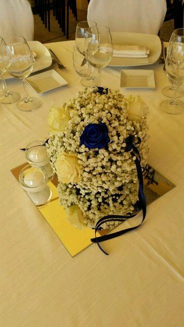 Tema Matrimonio Blu E Bianco : Ecco i miei centrotavola tema bianco e blu foto
