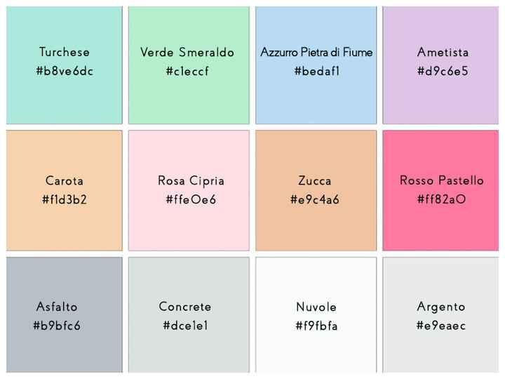 Palette colori matrimonio. - 1