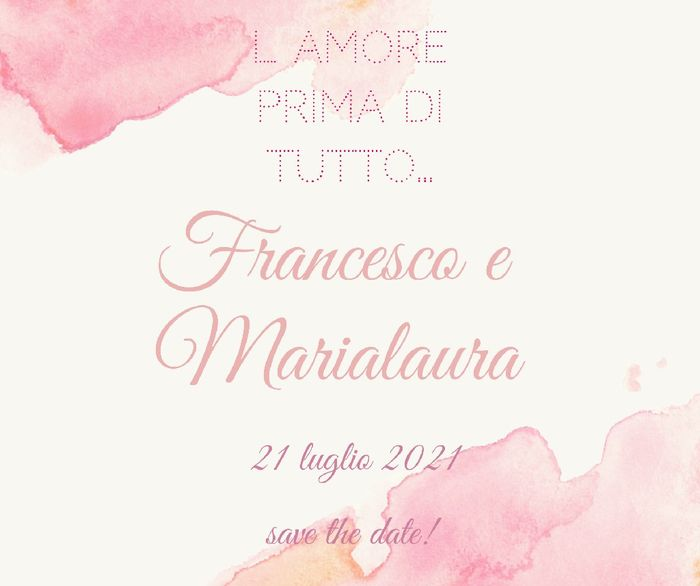 Save the date ❤️ Matrimonio Rinviato 2