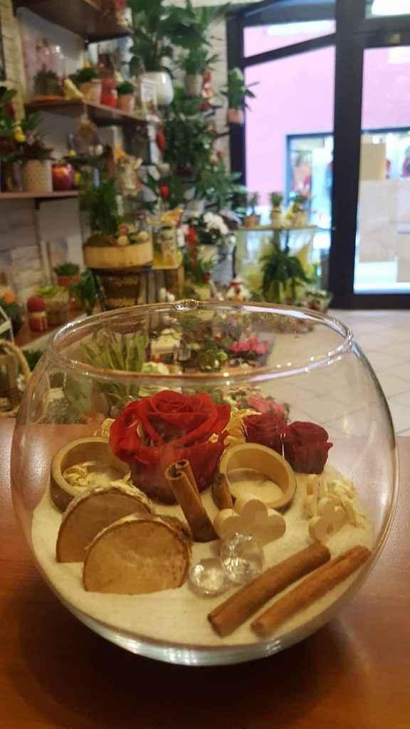 Bomboniere con rose stabilizzate - 1