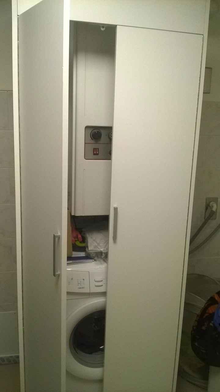 mobiletto in cucina per nascondere lavatrice e caldaia!
