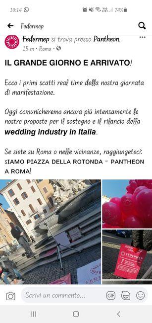Manifestazione Wedding 28 Gennaio 2021 1