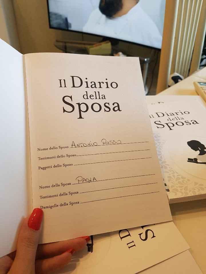 Il mio diario della sposa. - 1