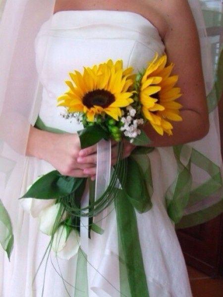 Bouquet Sposa Con Girasoli.Il Mio Bouquet Con Girasoli Margherite Spighe E Nebbioline