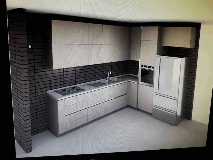 Ciao, noi abbiamo una cucina ad angolo. Io ho optato per il lavello a due vasche con gocciolatoio a