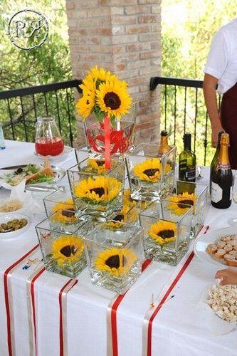 Tavolo Matrimonio Girasoli : Girasoli nelle decorazioni matrimonio organizzazione