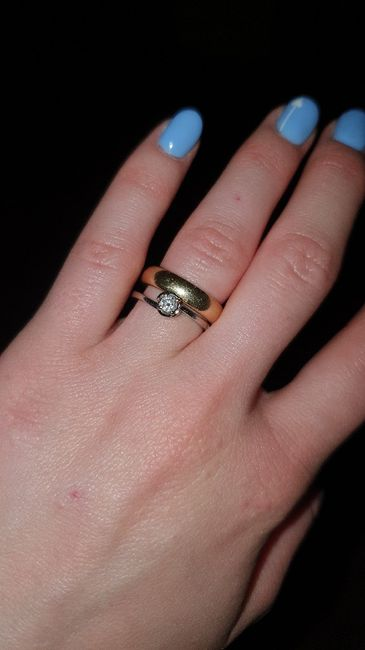 fede nuziale e anello di Fidanzamento. 2