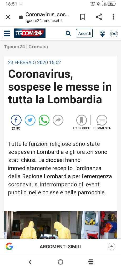 Matrimonio a Pavia e coronavirus - 1