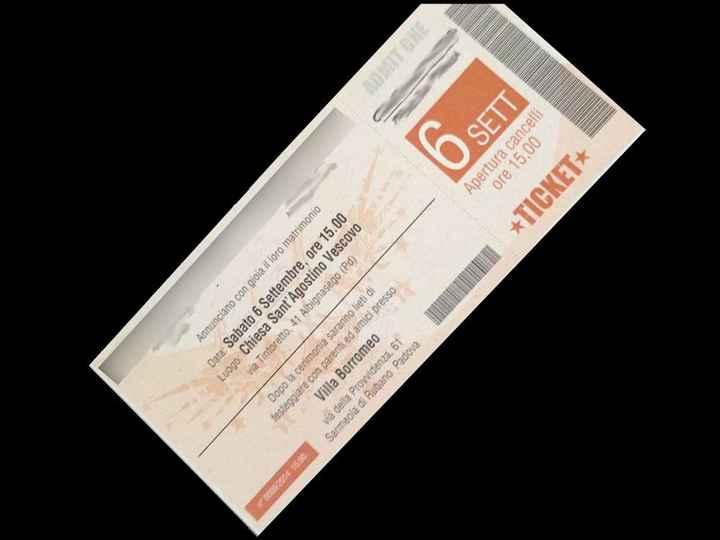 Partecipazioni biglietto concerto.. - 1