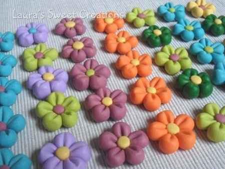 Segnaposto fiori pasta di mais - 1
