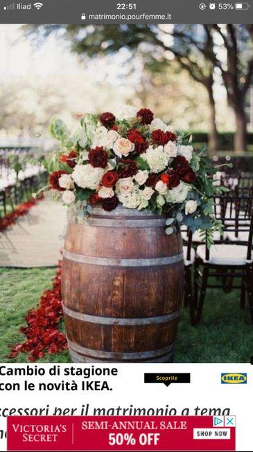Centro tavola Tema vino/autunno - 1