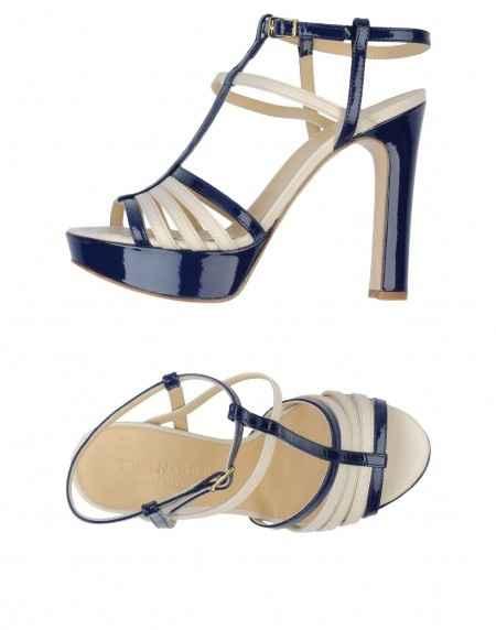 scarpe sposa blu...