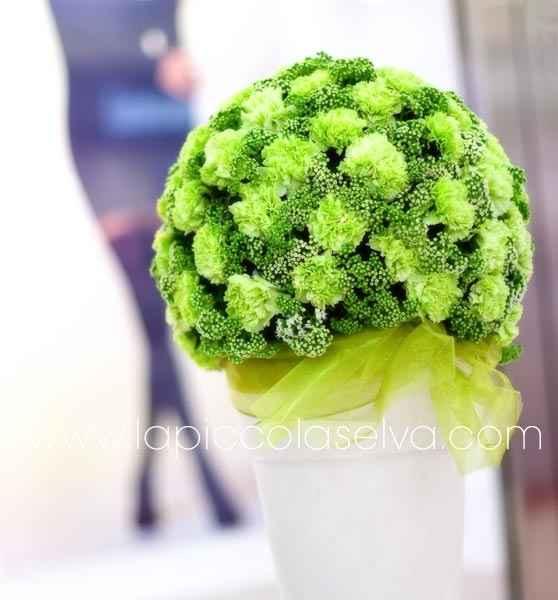 fiori..in verde...