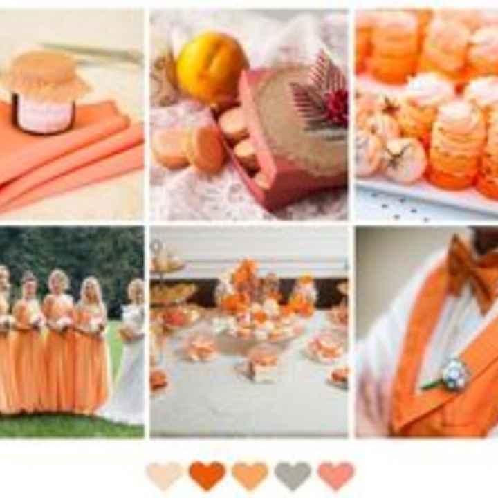 Decorazione Colore Albicocca-arancione 🍑 - 1