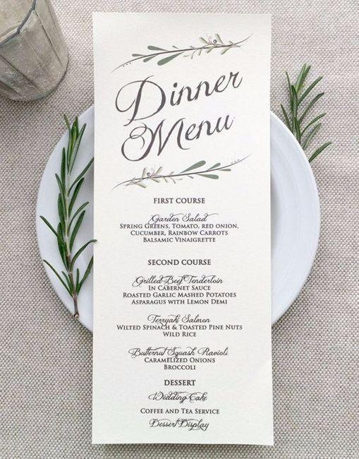 Qual è il numero delle portate incluse nel vostro menù di nozze?