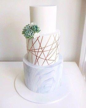 3) 1) Wedding cake