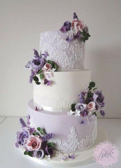Torta nozze con fiori 2