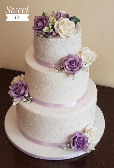 Torta nozze con fiori 3