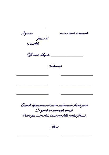 Pergamena testimoni per Unione civile - rito simbolico 1