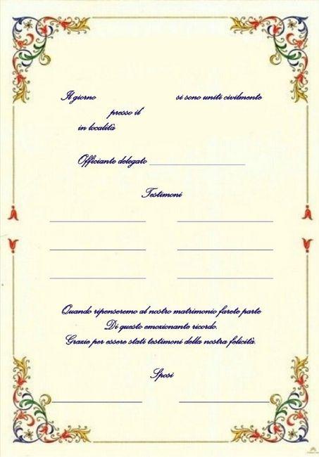 Pergamena testimoni per Unione civile - rito simbolico 2