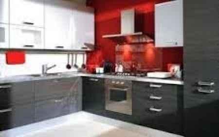 Cucina rosso-bianco-tortora