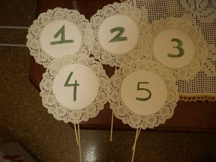 I numeri per i tavoli e i gusti dei confetti 1 foto fai da te - Numeri per tavoli da stampare ...