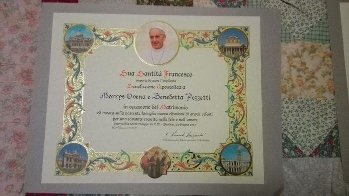 Anniversario Di Matrimonio Benedizione.Pergamene Benedette Dal Vaticano Prima Delle Nozze Forum