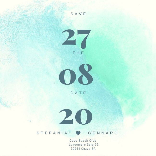 Save the date, quale vi piace di più? 18