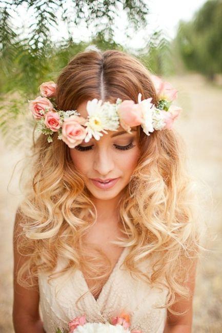 Io ho scelto, capelli sciolti e fiori :)