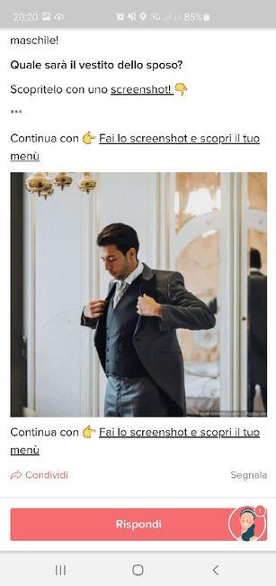 Fai lo screenshot e scopri il vestito dello sposo 5