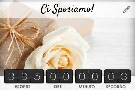 Countdown matrimonio