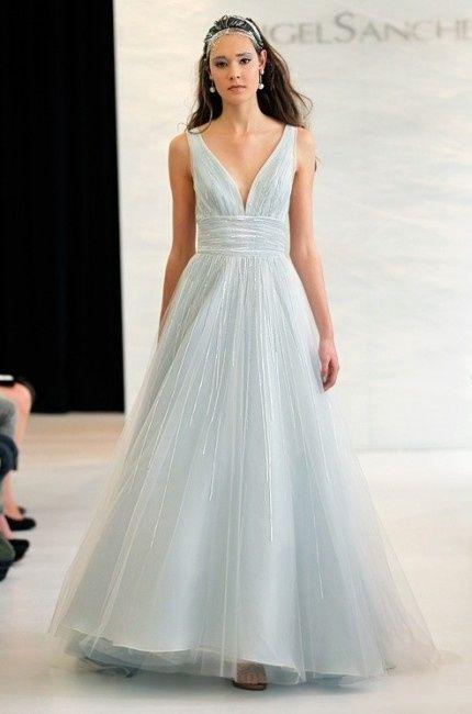 Vestito Matrimonio Azzurro : Abito sposa colorato ecco spose in azzurro moda