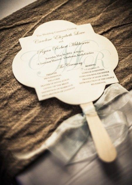 abbastanza Partecipazioni ventaglio: idee originali per un matrimonio in  UU71