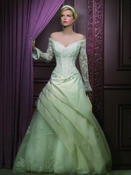 Abito sposa verde
