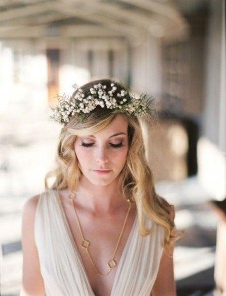 Popolare Coroncine di fiori per spose boho, country o super romantiche  AS62