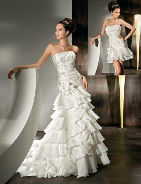 5543d23ee554 Abiti da sposa 2 in 1  da lungo a corto e viceversa! - Moda nozze ...