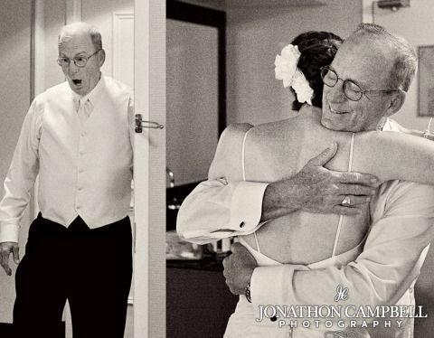 10 emocionantes reacciones del padre de la novia ante el first look 4